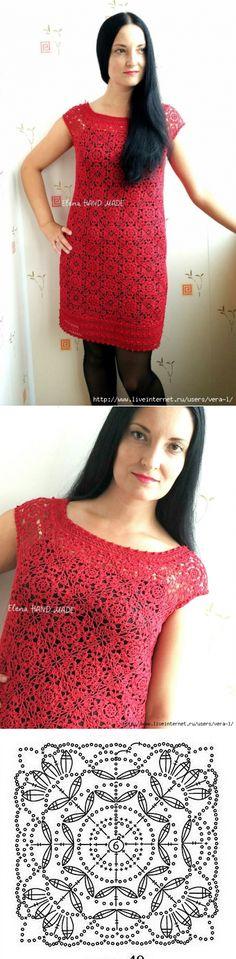 Платье мотивами. Автор Елена Лапотько