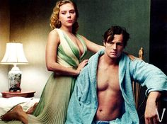 """Scarlett Johansson and Benjamin Walker Photographed by Annie Leibovitz for the """"Fire and Ice: Scarlett Johansson and Benjamin Walker Star in Broadway's Cat on a Hot Tin Roof"""" editorial, Vogue, January Benjamin Walker, Annie Leibovitz Photography, Black Widow Scarlett, Celebrity Feet, Scarlett Johansson, Rolling Stones, In Hollywood, Eye Candy, Dancer"""
