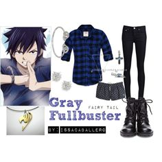 """""""gray fullbuster - fairy tail"""" by issacaballero on Polyvore"""