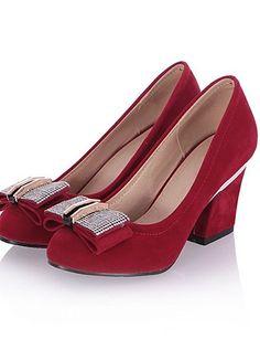 X&D Damenschuhe - High Heels - Büro / Lässig - Kunstleder - Blockabsatz - Absätze - Schwarz / Blau / Rot - http://on-line-kaufen.de/tba/x-d-damenschuhe-high-heels-buero-laessig-absaetze