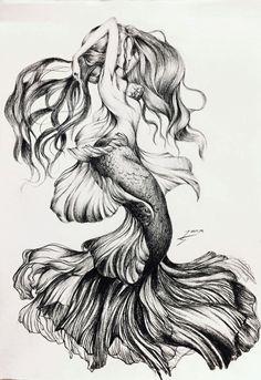 diy best tattoo images - Am schönsten Tattoo Sketches, Tattoo Drawings, Body Art Tattoos, Drawing Sketches, Sleeve Tattoos, Art Drawings, Tattoo Art, Mermaid Tattoo Designs, Mermaid Drawings