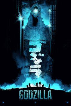 Patrick Connan - Godzilla Blue
