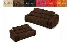 Conjunto tres más dos plazas tapizado en tela de diseño sencillo. Variedad de tapizados.