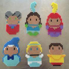 Cinderella figures perler beads by sadnesssung
