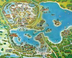 Walt Disney World map that used to be on the wall in every Contemporary Resort hotel room.