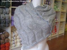 Lana e Cotone (maglia e uncinetto): Scialle a ferri