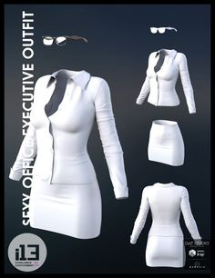 I13 Sexy Office Executive Outfit  3D Models For Poser And Daz Studio  N