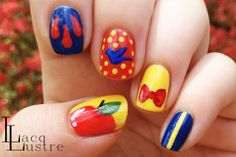 Disney Princess Snow White Nail Art