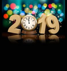 Buy Happy New Year Holiday Background with Clock by almoond on GraphicRiver. Happy New Year holiday background with a clock and firework. Fully editable, vector objects separated a. Happy New Year Images, Happy New Year 2019, Merry Christmas And Happy New Year, Christmas Holidays, Happy Year, New Year Holidays, Holidays And Events, Happy Holidays, Birthday Greetings