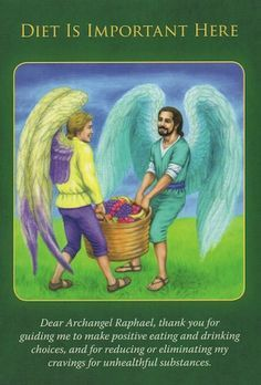 Archangel Raphael says that food is medicine, and he brings you this card as a reminder of its curative properties... (click image to keep reading)