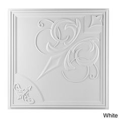 French Quarter Ceiling Tile (Pack of 10) - These uDecor ceiling tiles are made of lightweight poly-vinyl, which makes them waterproof and easy to install: 60.99