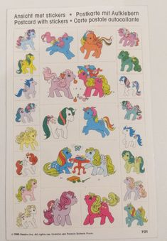 stickers post card sticker ,made in Holland-1989-1989 by TownOfMemories on Etsy
