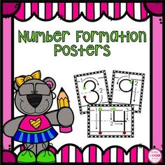 This set of worksheets helps students learn how to form numbers correctly. They will learn to start at the green smiley face & end at the red smiley face. Included are numbers 0-20.To make these more engaging have students use dry-erase markers, playdoh, paint, etc to form the numbers.