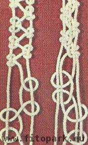 шнурок плетение макраме