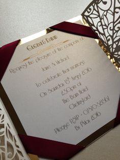 Diseo de corte lser tarjeta de decoracin matrimonio nepali art deco ivory gold wine laser cut wedding invitation by crafty designer stopboris Images