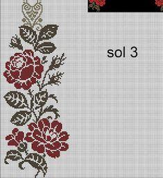 Cross Stitch Designs, Cross Stitch Patterns, Prayer Rug, Cross Stitch Flowers, Brick Stitch, Cross Stitching, Crochet, Bargello, Diy And Crafts