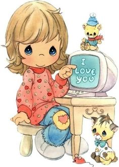 A sucker 4 Precious Moments Precious Moments Coloring Pages, Precious Moments Quotes, Precious Moments Figurines, Comic Pictures, Cute Pictures, Sunny Pictures, Sarah Kay, Holly Hobbie, Cute Comics