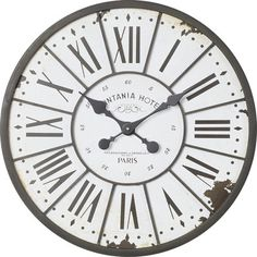 Farmhouse style wall clock