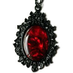 Gothic Red Paua Shell Cameo Necklace (42 CAD) ❤ liked on Polyvore featuring jewelry, necklaces, long red necklace, gothic chokers, cameo choker necklace, red pendant necklace and seashell necklace