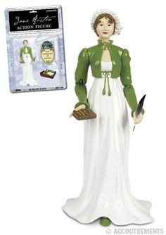 Jane Austen Action Figure. She totally deserves this too! I would love to tell her Jane, friend, you've made it!
