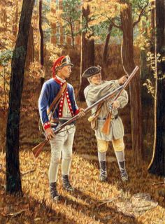 Early war Continental and Militia soldiers.