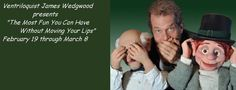Minnesota based ventriloquist James Wedgwood, performing his family oriented show at libraries throughout the region beginning February 19.