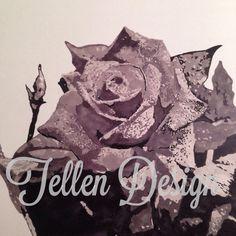 Grey rose, art, promarkers #tellendesign