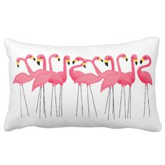 Cuban Pink Flamingos Pillow