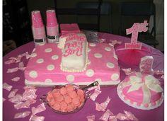 Molly's 1st birthday cakes...homemade fondant