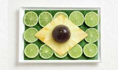 Brazilian flag with limes...