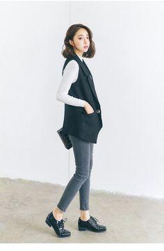 Korean fashion thin solid color sleeveless vest