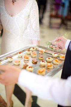 canapes/Sweet Simplicity - Eilionoir and Eoin's Dublin City Hall Wedding by Elisha Clarke