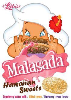 Hawaiian Character Bochaloha-MALASADA #Hawaii #Aloha #Travel #Design #Hula