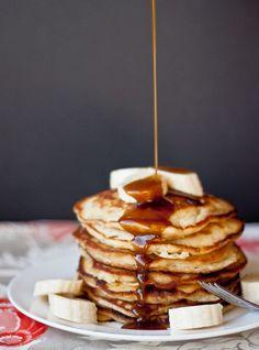 Banana Pancakes with Coconut Caramel Syrup