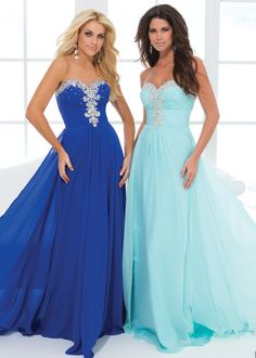 Free Shipping for Tony Bowls Le Gala 114536 blue ruched chiffon gown prom dress available now at RissyRoos.com.
