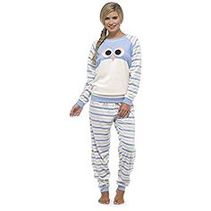 Love these 😍Ladies Supersoft Fleece Animal Design Pyjama Set / Twosie: Amazon.co.uk: Clothing