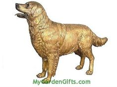Our life size Golden Retriever will certainly be a tribute that captures the friendliness demeanor of this favorite dog. Bronze.
