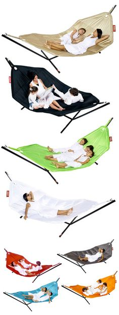 lOve the fatboy. Have the pool pillows. Need the hammock! Outdoor Hammock, Hammocks, Outdoor Fun, Outdoor Dining, Outdoor Spaces, Decoration Branches, Fatboy Headdemock, Pool Pillow, Floating Bed