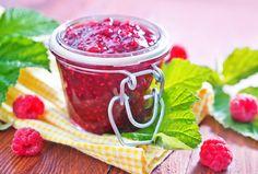 Homemade raw raspberry jam