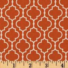 Metro Living Tile Orange from @fabricdotcom  Designed for Robert Kaufman Fine Fabrics, colors include orange and white.  Use for quilting, crafts, apparel and home décor accents.