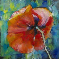 """""""Poppy Study No. 3"""" - Original Fine Art for Sale - © Sue Churchgrant"""
