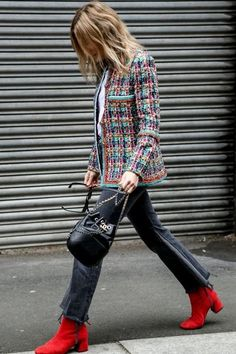 Red boots continue to be an ultra-chic trendsetting staple and we won't stop wearing them.
