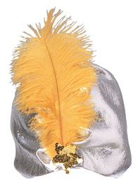 Adult Silver Turban - Costume Hats