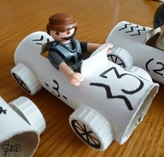 Coches con rollo papel higienico paper roll cars
