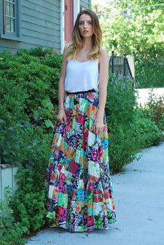 Prosecco & PLaid THE PATCHWORK MAXI SKIRT