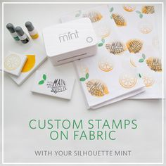 Hello everyone! Emily here, to share a tutorial with you on stamping with your Silhouette Mint™ on fabric. I've been wanting to try this out since I first cracked open the box with my Mint! I have