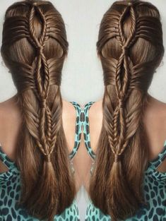 Fishtail braided lopped hairstyle idea inspiration hairspiration  @mimiamissari