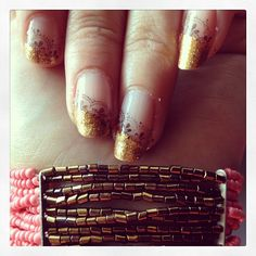 Lacy gold french manucure #nails #nailart #gold #black #lace #stamping #opi #kiko #frenchmanucure