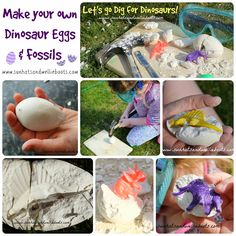 Sun Hats & Wellie Boots: DIY Dinosaur Eggs & Fossils - Perfect for Budding Paleontologists