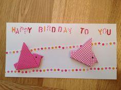 Cute ORIGAMI birds... Blank inside...'Happy Birdday to you!'  £3.00